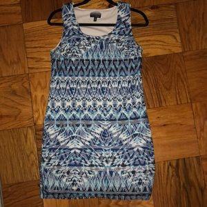 Beautiful blue woven patterned dress